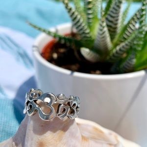 🕉 Genuine 925 Om Infinity Ring